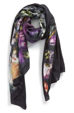 caa1aa4fe1073d Ted Baker London  Shadow Floral  Silk   Modal Split Scarf available at   Nordstrom