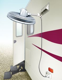 Heat And Insects Can Make Sitting Under Our RVs Awning At Night Uncomfortable To