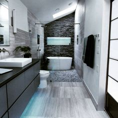 Browse modern bathroom ideas images to bathroom remodel, bathroom tile ideas, bathroom vanity, bathroom inspiration for your bathrooms ideas and bathroom design Read Bad Inspiration, Bathroom Inspiration, Painting Inspiration, Grey Bathrooms, Beautiful Bathrooms, Bathroom Modern, Bathroom Mirrors, Houzz Bathroom, Bathroom Faucets