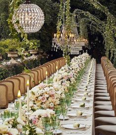 Greenery Wedding Ideas That Are Actually Gorgeous---outdoor wedding reception with hanging decorations and floral centerpieces, woodland weddings Wedding Goals, Dream Wedding, Wedding Day, Italy Wedding, Fantasy Wedding, Wedding Weekend, Garden Wedding, Wedding Season, Wedding Reception