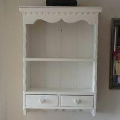 Pine Shabby Chic Wall Mounted Dresser/shelving | eBay