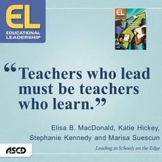 Teachers who lead...learn!