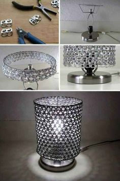 DIY Craft Project: Pop Can Tabs Lamp