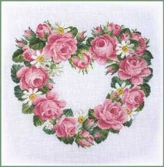 Heart Of Roses & Daisies