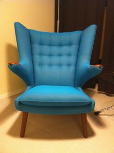Recently Re Upholstered Papa Bear Chair By Hans Wegner. I Had It Restored  At Denmark 50 In Los Angeles.