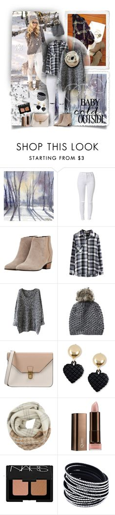"""White Jeans for Winter"" by tracireuer ❤ liked on Polyvore featuring Once Upon a Time, Golden Goose, Vincent Pradier, 8, Moschino, Woolrich, COVERGIRL, NARS Cosmetics, women's clothing and women"