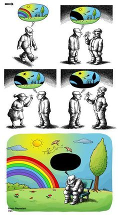 100 Anti-System Cartoons by Exiled Iranian Cartoonist Mana Neyestani We already live in paradise Iranian cartoonist Mana N, who portrays his own and the peoples of the world with his pen, pointing at Memes Humor, Funny Memes, 9gag Funny, Satire, Illustrator Design, Pictures With Deep Meaning, Art With Meaning, Satirical Illustrations, Meaningful Pictures