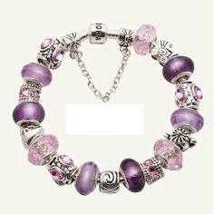 Pandora bracelet...pink & purple.