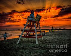 Sunset from the beaches of Cape May New Jersey