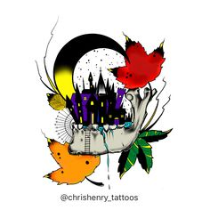 https://flic.kr/p/ZUZW3n   This piece is available to be tattooed. It's also available as prints,t-shirts,hoodies and stickers at, https://www.redbubble.com  Look up Chris Henry or sharkbites to find all my art that's available   Illustration by Christopher Henry. Tattoo artist and co-owner of Tattoo Boogaloo in San Francisco Ca.