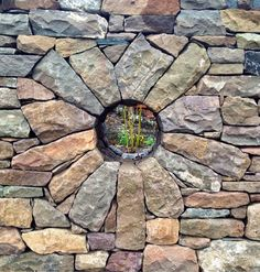Wall stone garden moon gate ideas for 2019 Dry Stone, Brick And Stone, Stone Work, Stone Walls, Caillou Roche, Garden Art, Garden Design, Garden Gates, Stone Wall Design