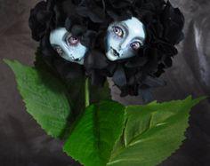 Alice in Wonderland Talking Flowers Conjoined Hydrangea Twins ~ Burton Inspired By Sutherland