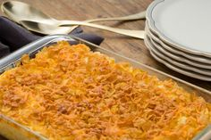 """Cheesy """"Funeral"""" Potatoes Like Mom's potatoes but without the can cream of mushroom soup"""