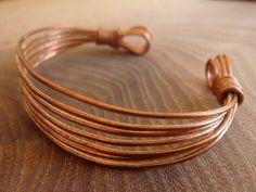 Items similar to Copper Bracelet / Copper Bangle / Handmade Wire Wrapped Copper Bracelet [Copper Jewellery by Derek McQueen] on Etsy
