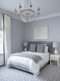 12 Gorgeous Bedroom Color Schemes That Will Give You Inspiration to Your Next Bedroom Remodel - The Trending House Coastal Master Bedroom, Next Bedroom, Couple Bedroom, Cozy Bedroom, Home Decor Bedroom, Bedroom Bed, Budget Bedroom, Bedroom Plants, Closet Bedroom