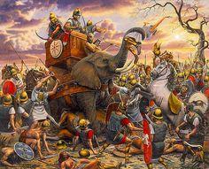 Obra de Gregory Proch encontrada como Zama, pero más bien parece la victoria cartaginesa en los LLanos de Bagradas, dado el más que pobre desempeño de los elefantes en la batalla que cerró la Segunda Guerra Púnica... Más en www.elgrancapitan.org/foro