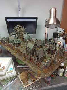 Game Terrain, 40k Terrain, Wargaming Terrain, Warhammer Terrain, Dungeons And Dragons Characters, Warhammer Models, Mini Craft, Miniature Houses, Tabletop Games