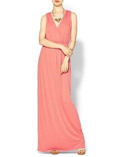Sabine Knit Wrap Maxi Dress | Piperlime