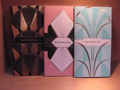 Susan Says:  Art Deco, always a favorite of designers this set of three notebooks with metallic foil stamped covers are lovely.  Lined interior on luxury paper, nice!  Available at Best of Friends Gift Shop in the lobby of Winnipeg's Millennium Library. 204-947-0110 info@friendswpl.ca Foil Stamping, Gifts For Friends, Notebooks, Art Deco, Designers, Metallic, Luxury, Nice, Paper