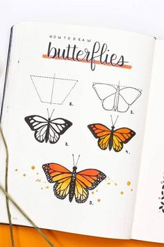 Check out the best butterfly themed bullet journal spreads, covers, and layouts for inspiration! journal inspiration doodles Best Butterfly Themed Bullet Journal Spreads For 2020 - Crazy Laura Bullet Journal Banner, Bullet Journal Writing, Bullet Journal Aesthetic, Bullet Journal Spread, Bullet Journal Ideas Pages, Bullet Journal Inspiration, April Bullet Journal, Monthly Bullet Journal Layout, Bullet Journal Cover Page