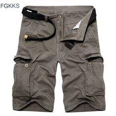 >> Click to Buy << FGKKS 2017 New Brand Men Cargo Shorts Casual Loose Short Pants Camouflage Military Summer Style Knee Length Shorts #Affiliate