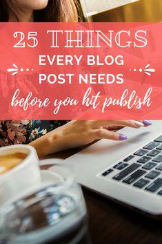 Blog post checklist: