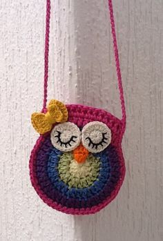 free crochet pattern little girl purseDiscover thousands of images about Owl purse crochet patternowl purse# Free # crochet link here DISCLAIMER First and foremost I take no credit for any of the FREE pattern links on this page .Meet your Posher, Sut Crochet Owl Purse, Crochet Purse Patterns, Crochet Tote, Crochet Handbags, Crochet Purses, Crochet Gifts, Free Crochet, Crochet Owls, Crochet Pillow