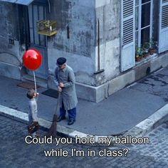 Albert Lamorisse The Red Balloon (Le Ballon rouge) 1956 // #albertlamorisse #artsxdesign by artsxdesign