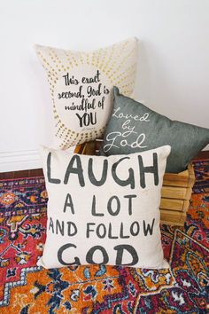 Christian home decor - pillows | Al Fox Carraway