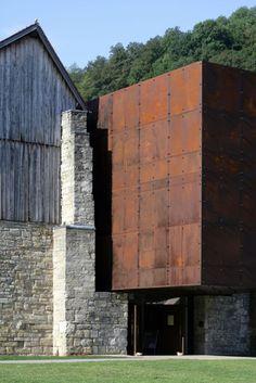 """""""Musée du sel"""", Salt Museum, Salins-les-Bains, France.  Corten. By Malcotti Roussey architectes + Thierry Gheza"""