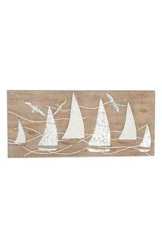Nautical Wall Decor, Wooden Wall Decor, Wood Wall, Wall Art Decor, Wooden Wall Panels, Boat Art, Sea Waves, Sailboats
