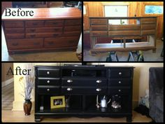 $39 Goodwill find transformed into a tv stand! (Instructions Here: http://attheparks.blogspot.com/2013/01/dresser-turned-tv-stand-makeover.html)