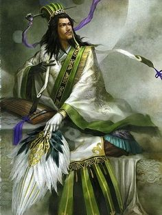 """Zhuge Liang (諸葛亮孔明), from """"Dynasty Warriors.""""  Real-life historical figure http://en.wikipedia.org/wiki/Zhuge_Liang"""