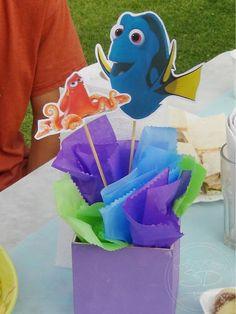 SD Eventos: BUSCANDO A DORY! Finding Dory birthday party Finding Dory sweet table Candy Bar Buscando a Dory Centerpiece Centro de mesa