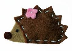 Erizo de fieltro. Felt Hedgehog.