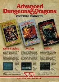 Dungeons and Dragons Computer Game Ad in Magazines
