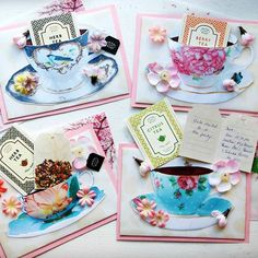 【just_p_chi】さんのInstagramをピンしています。 《Ok kiiinda super early but I was really excited to make these invites. I saved and printed teacups I found online, glued them in an arched fashion to create a 3D pop out effect on scrapbook paper and cardstock and added these super cute teabag letters I bought from my last trip to Taiwan. I didn't even set the date for the tea party before I made these... Hahahaha. More pics to follow. #teacup #teatime #teaparty #invites #invitations #diy #craft #hobby…