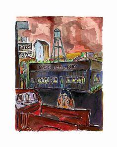 www.canvasgallery.com Bob  Dylan Dad's Restaurant 2008