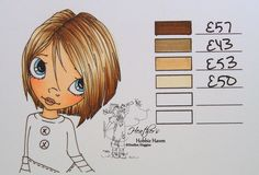 Blank Copic Hair Color Chart | dirty blonde the order i colored them e57 e43 e53 e50 the saturated ...