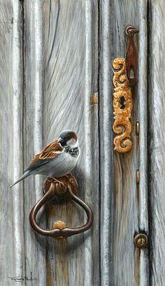Jeremy Paul | ACRYLIC | Friend at the door - sparrow