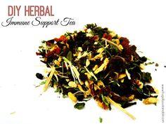 DIY Immune System Support Herbal Tea Blend