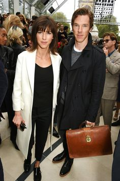 Pin for Later: Celebrities Were Sitting Pretty in the London Fashion Week Front Row Sophie Hunter and Benedict Cumberbatch The couple sat front row at the Burberry show.