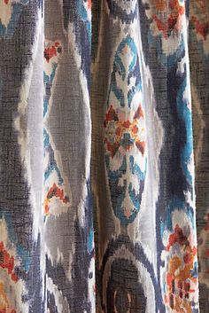Navy Ikat With Light Blue Gray Cream By Stout Swelter
