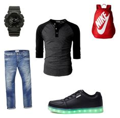 """""""Tai"""" by aaylabb8 on Polyvore featuring NIKE, G-Shock, Scotch & Soda, men's fashion and menswear"""