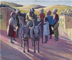 Gerard Sekoto, 'milkman'  (1945 - 47)
