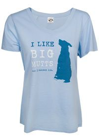 I Like Big Mutts V-Neck Tee at The Animal Rescue Site