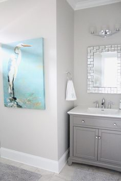 This wall color with gray vanity. Wall color is Repose Gray Sherwin Williams Sherwin Williams Repose Gray, Bathroom Wall Colors, Small Bathroom, Bathroom Ideas, Bathroom Gray, Grey Bathroom Paint, Bathroom Remodeling, Remodeling Ideas, Bathroom Pictures