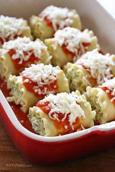 Three Cheese Zucchini Stuffed Lasagna Rolls | Skinnytaste