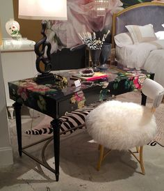 High Point Market Fall 2015 | Design Blogger's Tour | Part I - laurel home | Cynthia Rowley unabashedly feminine Desk for Hooker Furniture #hpmkt #designbloggerstour