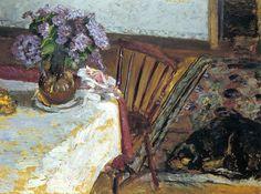 Pierre Bonnard   ~  Intérieur avec chien Flac